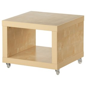 Ikea Lack Coffee Side Table Multi Use On Casters Birch Effect