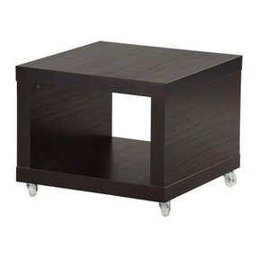 Ikea Lack Coffee Side Table Multi Use On Casters Black Brown