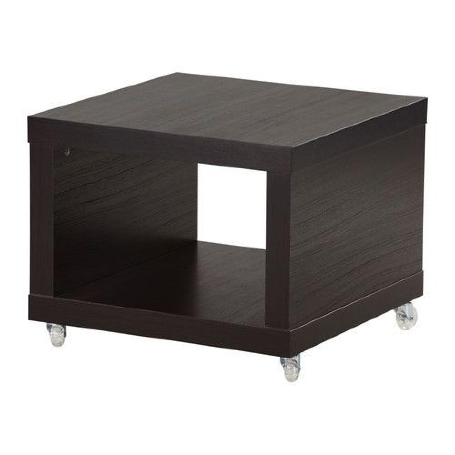 Ordinaire Ikea Lack Coffee/Side Table Multi Use On Casters Black Brown