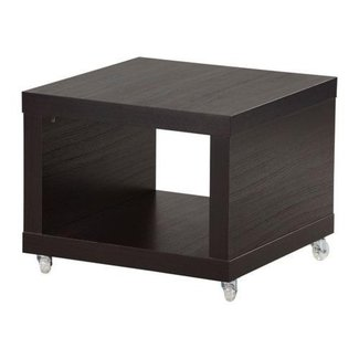 IKEA - LACK Side table on casters, black-brown