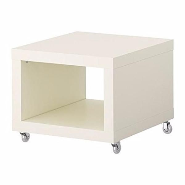 IKEA   LACK Side Table On Casters, White