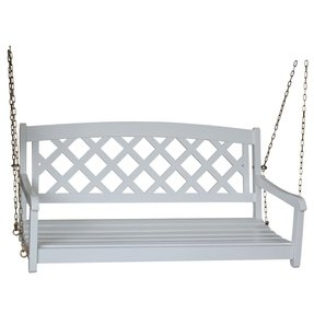 International Concepts X-Back Swing with Chain, White