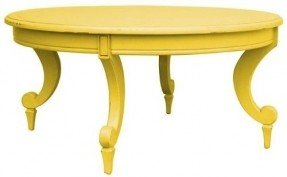 Ordinaire New Coffee Table Yellow Painted Hardwood Round Siena