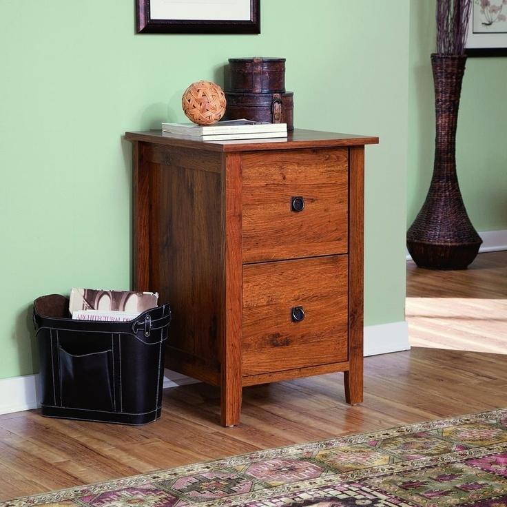 Sauder Rose Valley File Cabinet In Abbey Oak