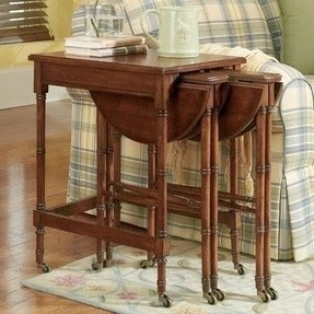 Set of 3 Plantation Cherry Nesting Tables