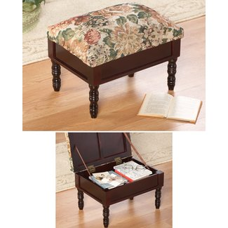 Tapestry Decorative Storage Footstool