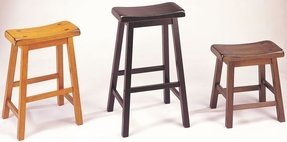 "ACME 07308 Set of 2 Black Gaucho Saddle Stool, 29""H"