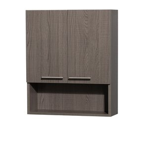Amare Bathroom Wall-Mounted Storage Cabinet in Grey Oak (Two-Door)