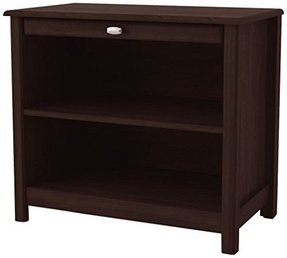 Ameriwood Open Nightstand with Pull Out Shelf, Dark Russet Cherry