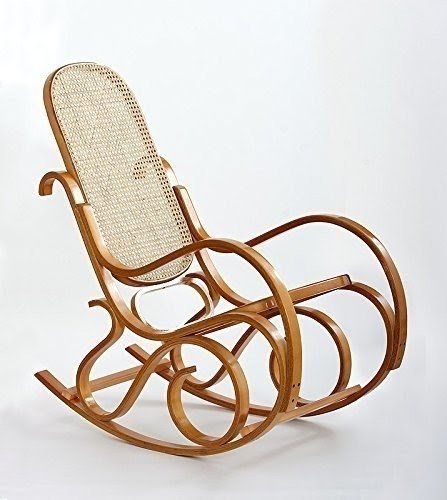 Brand New Bentwood Wood Rattan Rocking Chair Armchair Wooden Antique Style