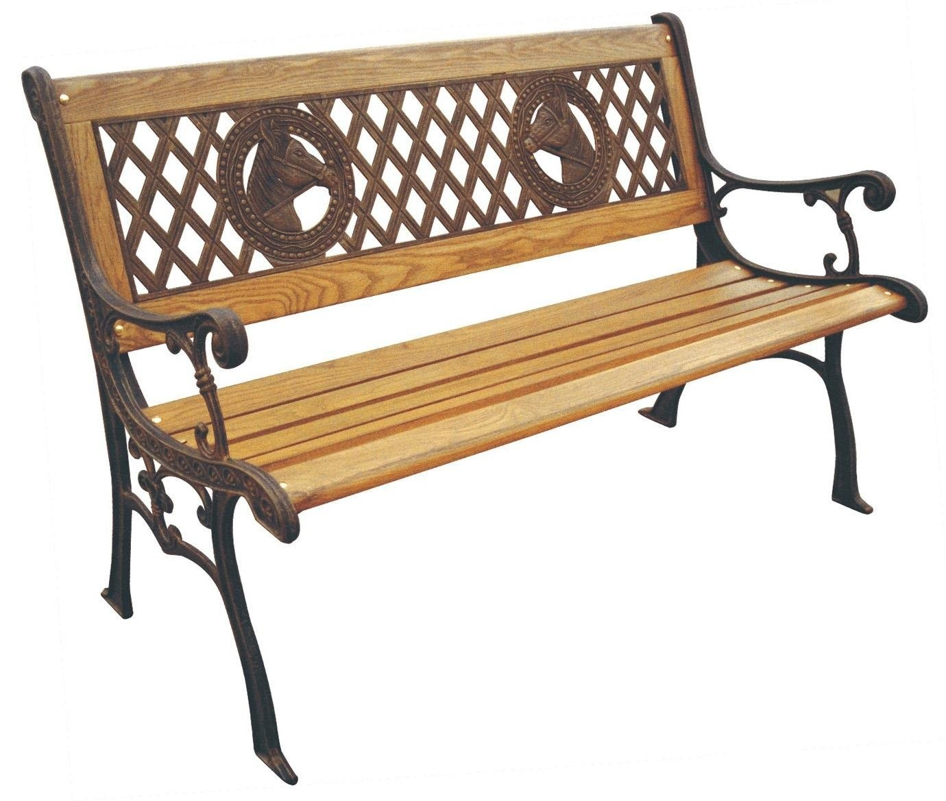 Superieur DC America SL677CO BR Champions Park Bench, Cast Iron Frame And Hardwood  Slats,