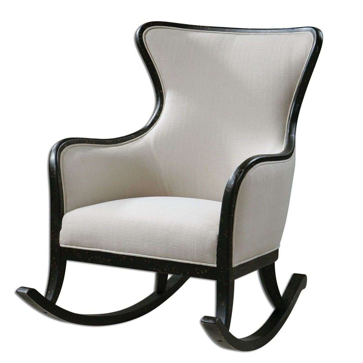 Elegant Black And White Rocking Arm Chair
