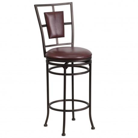 Flash Furniture BS 6357 29 BK GG Black Metal Bar Stool With