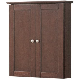 Foremost COCW2125 Cherry Columbia Columbia Bathroom Wall Cabinet