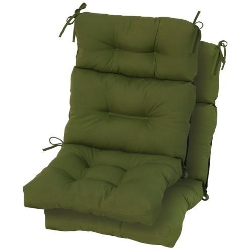 Greendale Home Fashions Indoor/Outdoor High Back Chair Cushions, Summerside  Green, Set Of