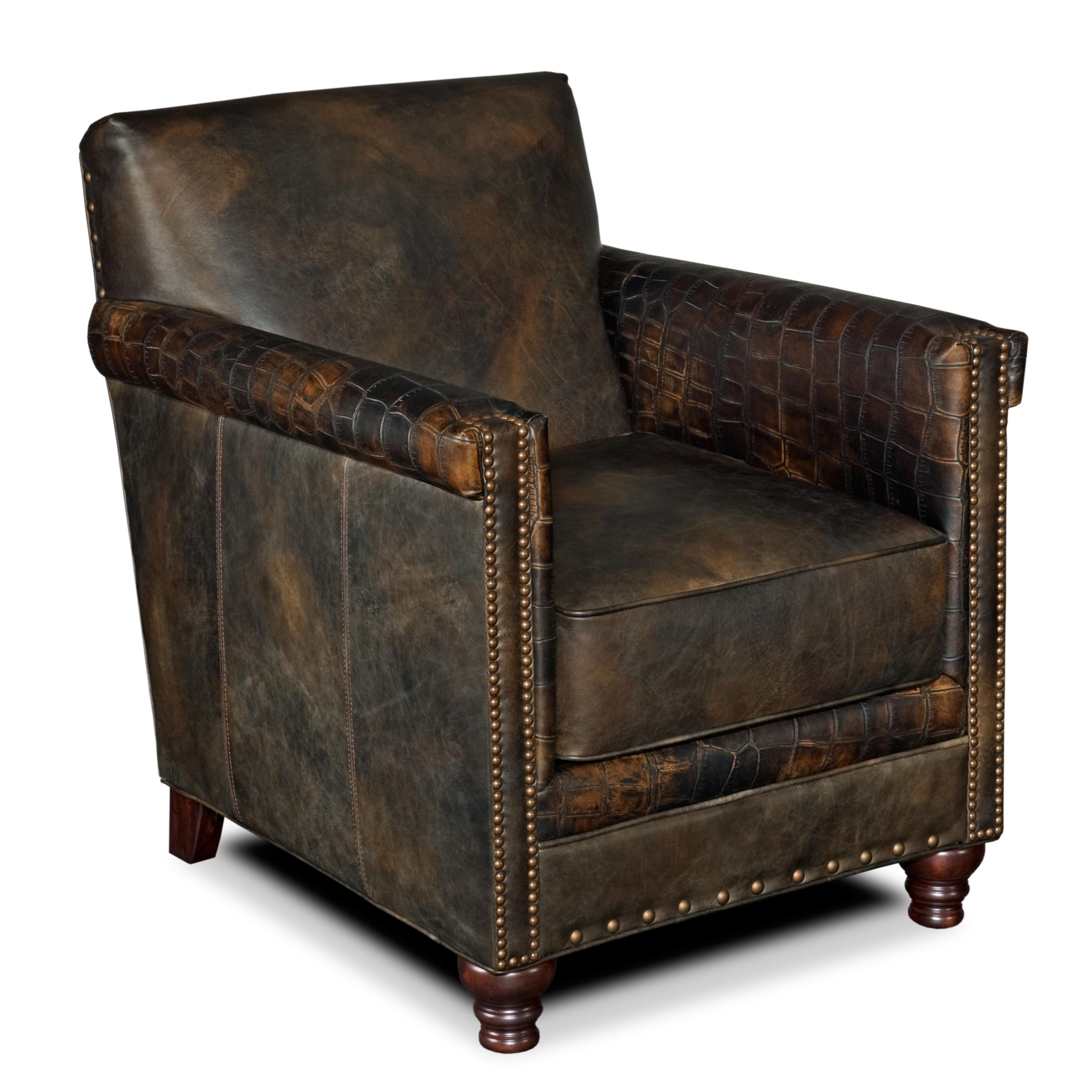 Ordinaire Hooker Furniture Seven Seas Club Chair In Old Saddle Fudge Leather
