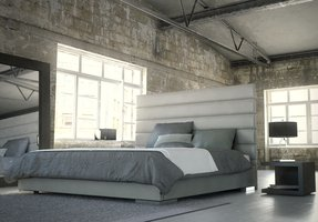 Modloft Prince Platform Bed in Dusty Grey Leather California King