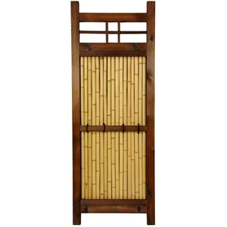 Oriental Furniture 4-Feet by 3-Feet Japanese Bamboo Kumo Fence