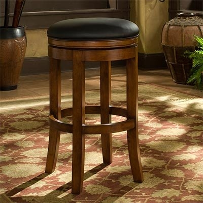 Roundhill Commercial Grade Solid Wood Over Size Bar Stool, 400 Pound, Cherry