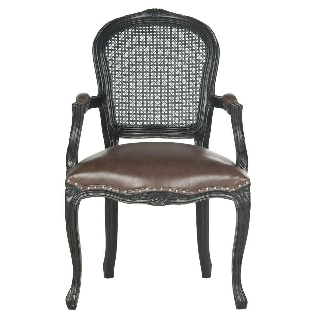 Safavieh Mercer Collection McKenna Arm Chair, Antique Brown