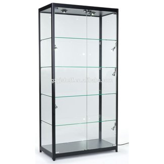 glass curio display cabinet ideas on foter. Black Bedroom Furniture Sets. Home Design Ideas