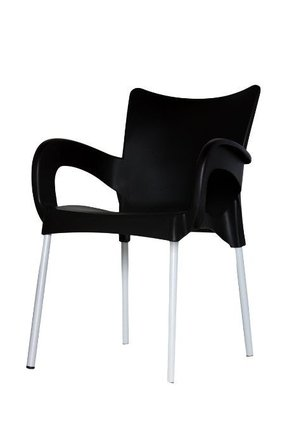 ARI Chair BLACK Set of (2) Plastic Indoor & Outdoor Cafe/restaurant/canteen