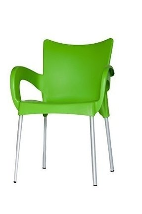 ARI Chairs (Lime Green) Set of (2) Plastic Indoor & Outdoor Cafe/restaurant/canteen