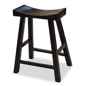 Asian Zen Bar Stool - Black