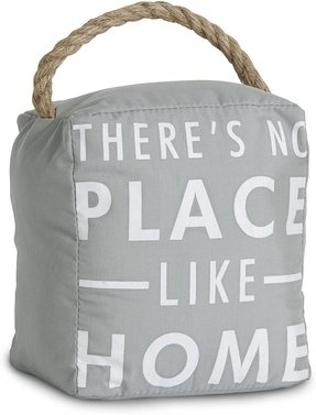 Fabric Door Stop with Rope Handle. There's No Place LIke Home By Open Door Decor