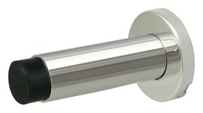 INOX DSIX04-32 Wall Mount Door Stop On Rose, Bright Chrome