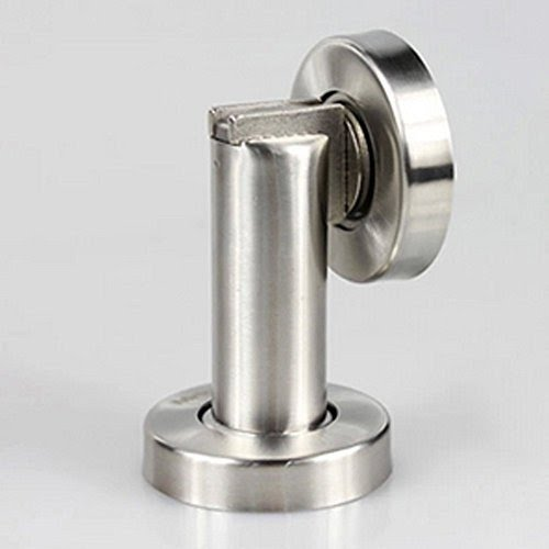 Magnetic Door Stop U0026 Holder For Home Or Office In Brushed Steel  Keeps Door  Open