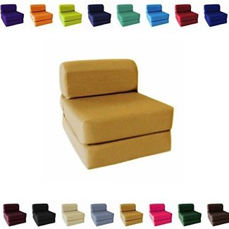 Sleeper Chair Folding Foam Bed Choose Color Sized Single Twin Or Full