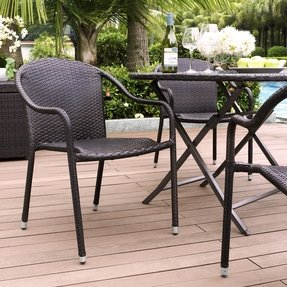 Palm Harbor Outdoor Wicker Stackable Chairs