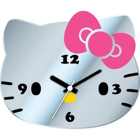 Ashton Sutton Hello Kitty Mirror Wall Clock