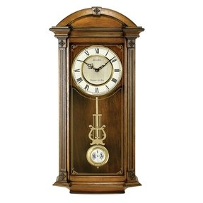 Old world wall clocks foter bulova c4331 hartwick old world clock walnut finish gumiabroncs Choice Image