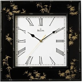 "Bulova Willow II 16"" Square Wall Clock"