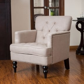 Christopher knight home malone beige club chair 3