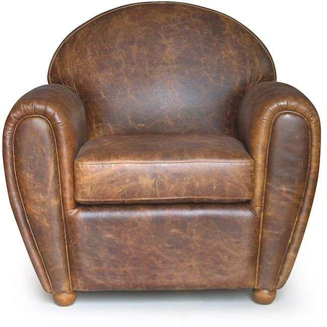 Classic Cigar Style Vintage Leather Club Chair