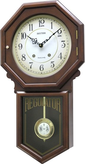 Colonial Hourly Strike Wall Clock by Rhythm Clocks