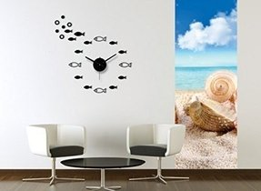Domire DIY Home Decorative wall clock modern design large mirrors Gift living room