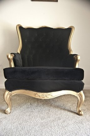 Gold arm chairs 1