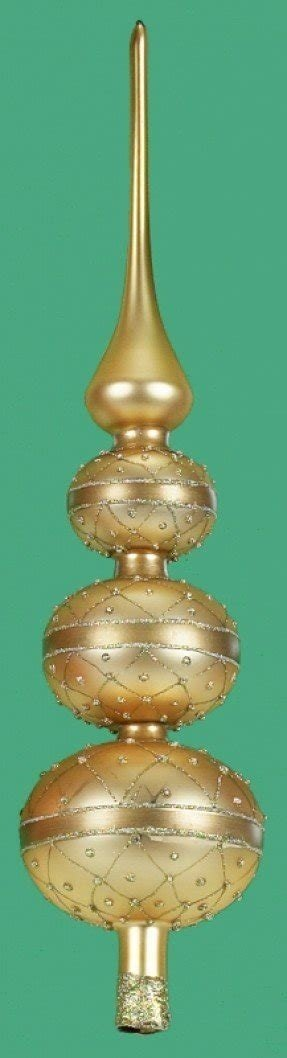 Gold Finial Christmas Tree Topper