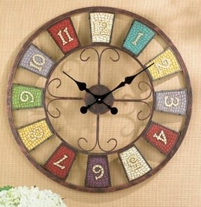 Grasslands Road Kaleidoscope Wall Clock, Metal, 23-Inch