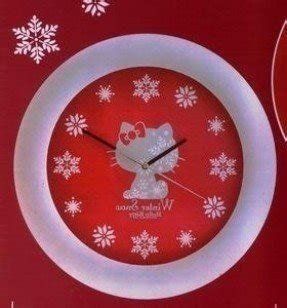 "HELLO KITTY WINTER SNOW 13"" WALL CLOCK- JAPAN IMPORT"