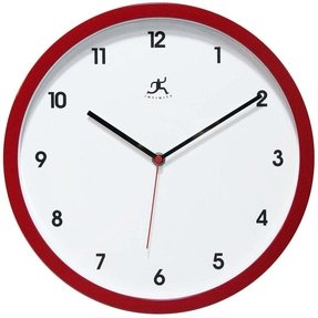 Infinity Instruments Cirrus Wall Clock, Red