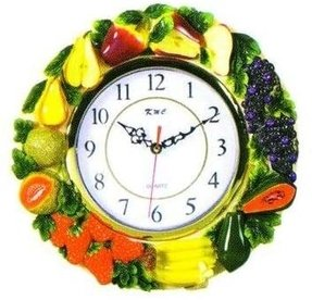 MIXED FRUIT 3-Dimensional Wall Clock BRAND NEW!