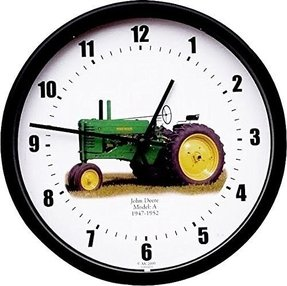 "New Restored Green John Deere Tractor Model A Years 1947 - 1952 Vintage Tractor Wall Clock 10"" Round"