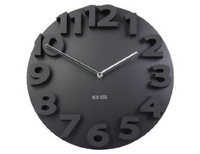Novelty Design Artistic Style Elegant Decorate Analog Round Wall Clock - Black