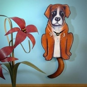 Swinging-Tail Pendulum Dog Clock - Boxer