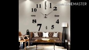 TODDCAHALAN Home DIY Decorative Wall Stickers Removable XXL large mirrors wall clock Gift living room #16